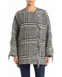 Bernardo - Fringed Wool-blend Coat - Lyst