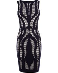 Karen Millen Geo Texture Knit Dress - Lyst