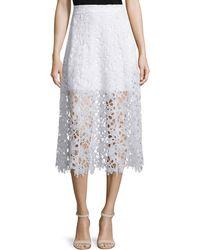 Karina Grimaldi   Tori A-line Lace Midi Skirt   Lyst