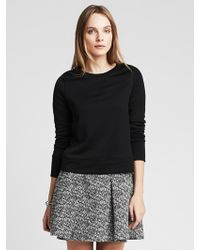 Banana Republic Black Foil Sweatshirt - Lyst