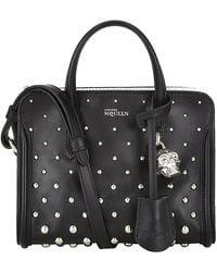 Alexander McQueen Studded Mini Padlock Bag - Lyst