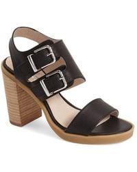 Shellys London - Dana Buckled Leather Sandals - Lyst