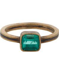 Judy Geib - Emerald, Gold & Silver Ring - Lyst