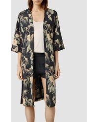 AllSaints Kos Kimono multicolor - Lyst