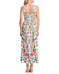 Cynthia Steffe Sidney Sleeveless Printed Highlow Dress - Lyst