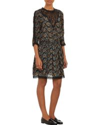 Sea Brocade Lace Smock Dress - Lyst