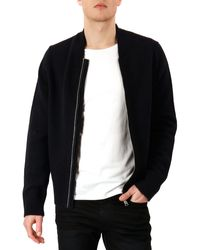 Acne Studios Knit Zipfront Cardigan - Lyst