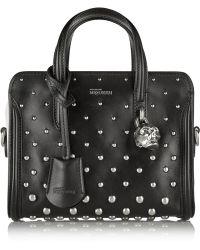 Alexander McQueen Padlock Mini Studded Leather Shoulder Bag - Lyst