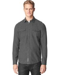 Calvin Klein Jeans Heathered Shirt - Lyst