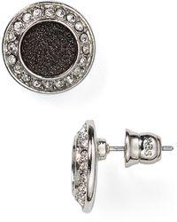 Abs By Allen Schwartz Jewelry Pave Stud Earrings - Lyst