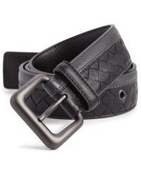 Bottega Veneta Intrecciato Woven Leather Belt - Lyst