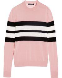Jonathan Saunders Oban Striped Merino Wool Sweater - Lyst