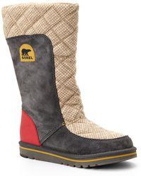 Sorel Grey  Beige Campus Tall Boots - Lyst