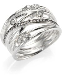 Ippolita Diamond & Sterling Silver Multi-Band Ring - Lyst