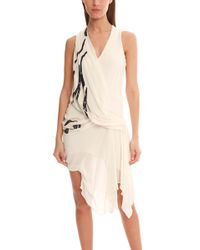 Helmut Lang Embroidered Dress - Lyst