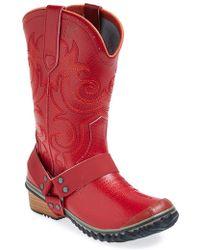 Sorel 'Slimwestern' Waterproof Boot red - Lyst