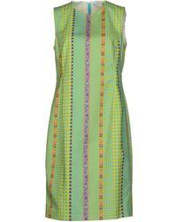 Versace Knee-length Dress green - Lyst