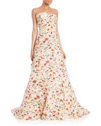 Carolina Herrera | Floral Satin Gazaar Gown | Lyst