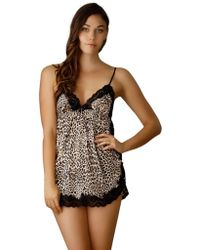 In Bloom Belinda Leopard Print Babydoll - Lyst