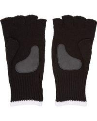 White Mountaineering Black Knit Fingerless Gloves - Lyst
