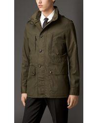 Burberry Technical Cotton Field Jacket - Lyst