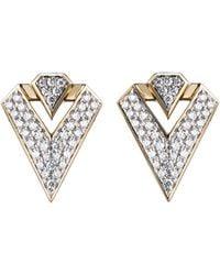 Diamonds Unleashed - #she'sbrilliant Pavé Diamond Stud Earrings - Lyst