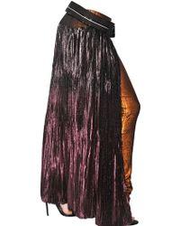 Haider Ackermann Pleated Silk Viscose Lurex Skirt - Lyst