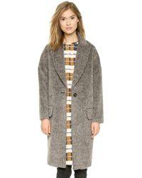 By Malene Birger Prosa Mohair Coat  Medium Grey Melange - Lyst