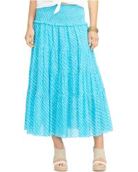 Lauren by Ralph Lauren Tiered Striped Skirt - Lyst