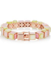 Eddie Borgo - Mosaic Cube Rose Gold-plated Bracelet - Lyst