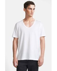 Dolce & Gabbana Scoop V-Neck T-Shirt - Lyst