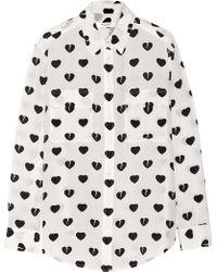 Equipment Heart Print Shirt - Lyst