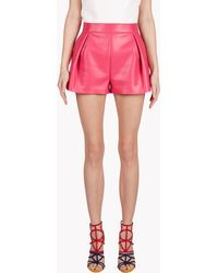 DSquared² Agnes Leather Shorts - Lyst