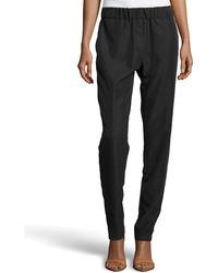 Halston Heritage Relaxed Washed-knit Pants - Lyst