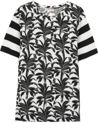 See By Chloé Printed Modal And Cotton-Blend T-Shirt - Lyst