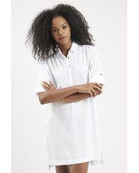 Topshop Casual Shirt Dress white - Lyst
