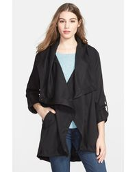 Vince Camuto Waterfall Hooded Coat - Lyst