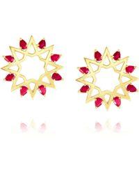 Ralph Masri - Ruby Star Earrings - Lyst