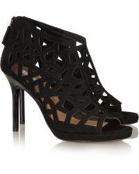 Diane von Furstenberg Delancey Cutout Suede Sandals - Lyst