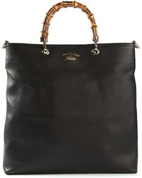 Gucci Bamboo Handles Shopper Tote - Lyst