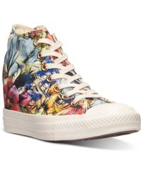Converse Women'S Chuck Taylor Platform Lux Casual Sneakers From Finish Line - Lyst