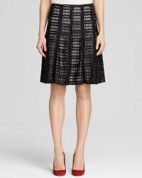 Calvin Klein Scuba Grid Cutout Skirt - Bloomingdale'S Exclusive - Lyst