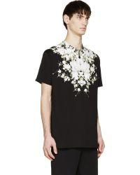 Givenchy Black Babybreath Print T_Shirt - Lyst