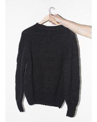 Chamula | Wool Crewneck Pullover - Black | Lyst
