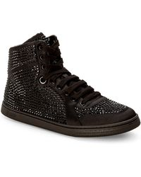 Gucci Black Studded High-Top Sneakers - Lyst