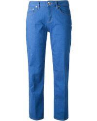Love Moschino Straight Leg Jeans - Lyst
