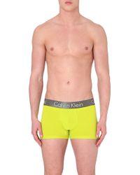 Calvin Klein Zinc Cotton Trunks - For Men - Lyst
