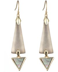 Alexis Bittar Elongated Dangling Earring With Mother Of Pearl gray - Lyst