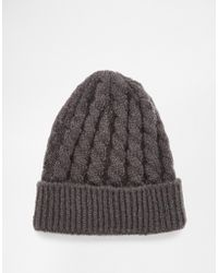 ASOS | Cable Beanie | Lyst