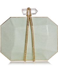 Marchesa Iris Lizard Box Clutch Bag - Lyst